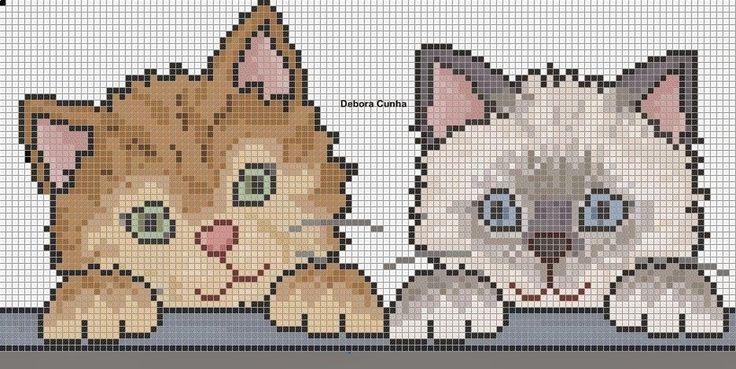 Ângela Bordados: gatinhos e gatinhas
