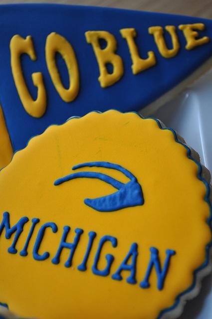 Love these beautiful Michigan cookies!