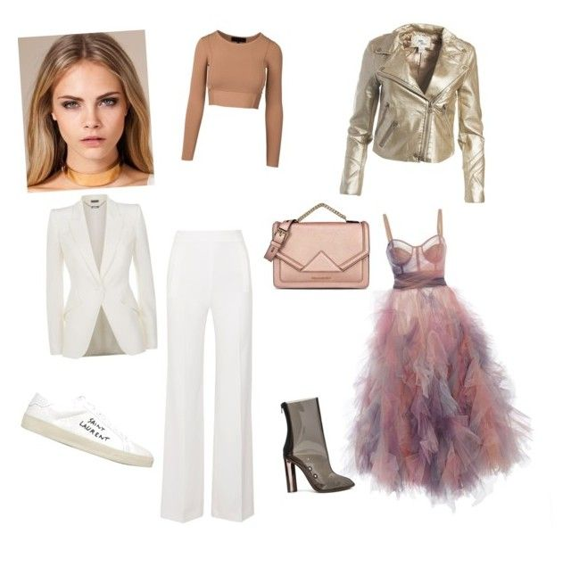 costume dynamics in detail by anna-samarina on Polyvore featuring polyvore, fashion, style, Alexander McQueen, Sans Souci, Roland Mouret, adidas, Yves Saint Laurent, Karl Lagerfeld and clothing