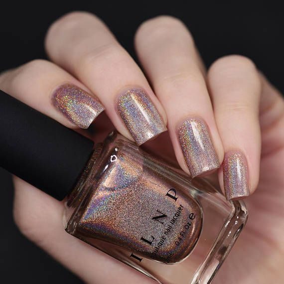 Soft Focus – Cozy Medium Beige Ultra Holographic Nail Polish – nails