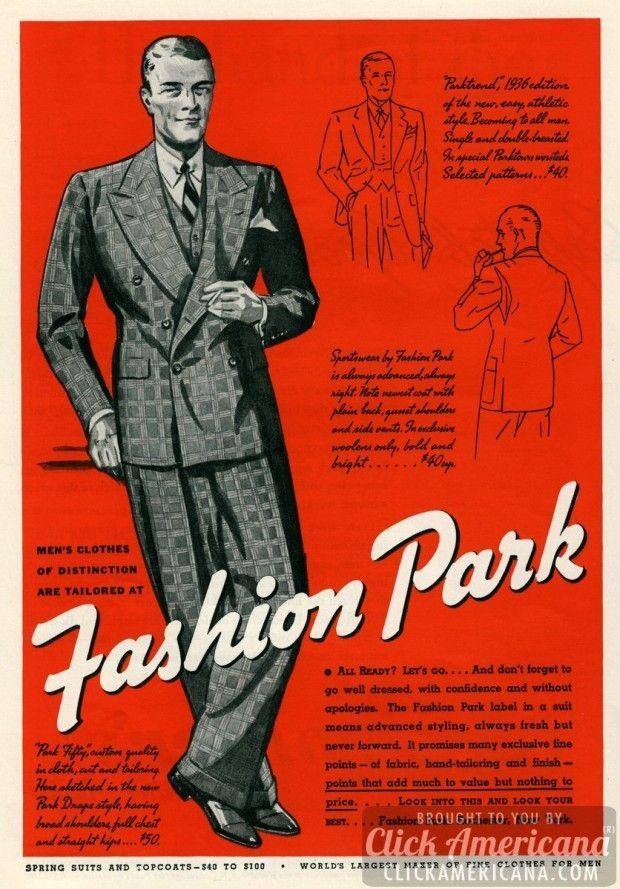 mens-suits-fashion-park-may-1936-620x889 Mens Clothes Of Distinction Fashion Park Suits 1936