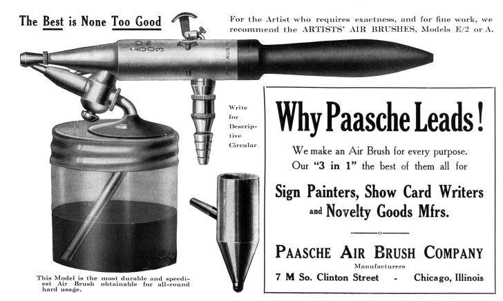 Old Paasche Advertisement.