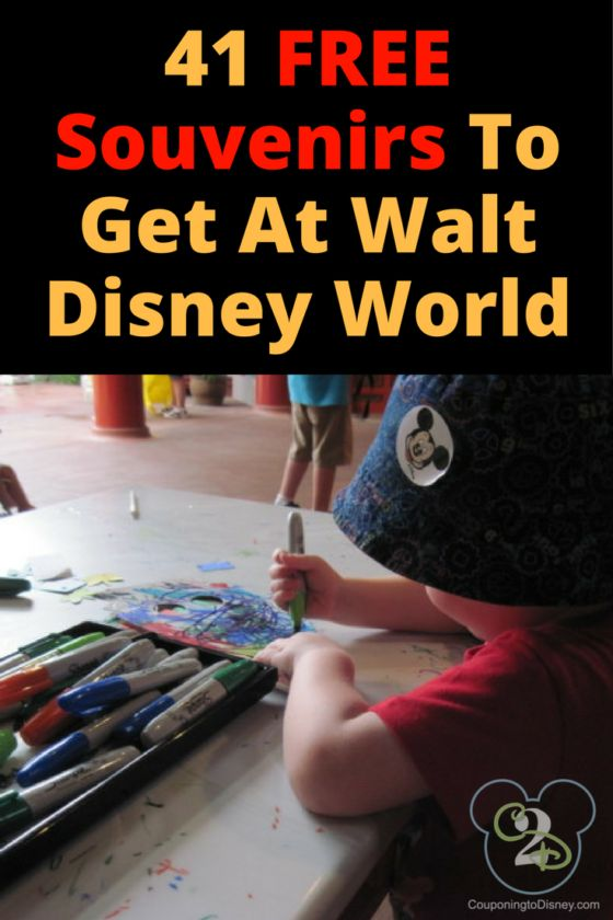 Pick up these 41 FREE Souvenirs To Get At Walt Disney World: 1. Autographs from the Disney Characters at Meet and Greets (consider having the character autograph a keepsake such as a frame or large wooden letter) 2. Toiletries from your room at the Walt Disney World Resort 3. Your MagicBand and/or Park Ticket 4. …