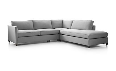 Dryden 3-Piece Sectional - Fog | Crate and Barrel