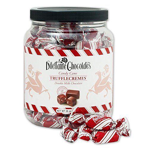 Candy Cane Peppermint TruffleCremes in Double Milk Chocolate - 28oz Bulk Jar - by Dilettante Dilettante http://www.amazon.com/dp/B00P9SFI00/ref=cm_sw_r_pi_dp_QZjQub13QTS7F