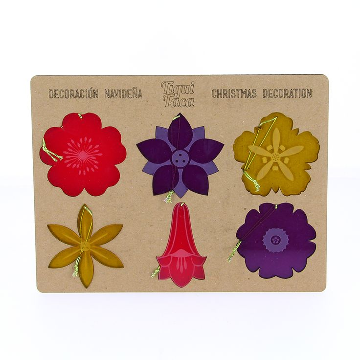flores nativas chilenas Christmas decoration with chilean native flowers, because in Chile we celebrate Christmas with an amazing weather :) #lasercut #madeinchile