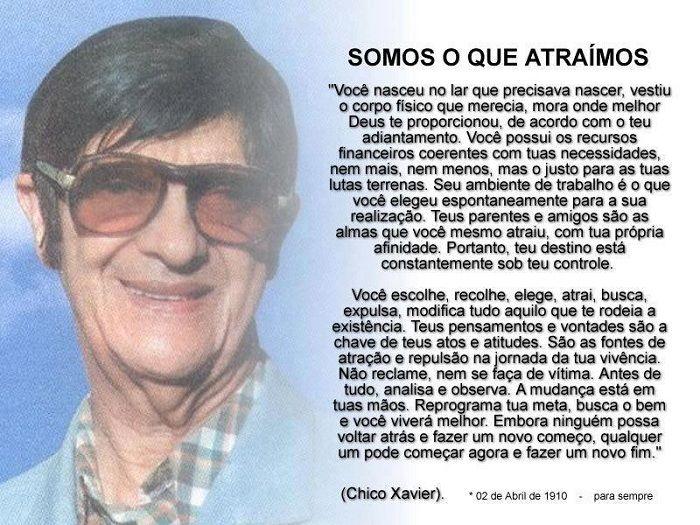 Mensagem de Reflexão Chico Chavier