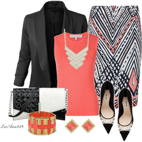 **Note to stylist: I love all things about this outfit! Carolina Herrera, LE3NO, Anna Scholz, Miu Miu, Nine West, Tory Burch, Zad and Sequin