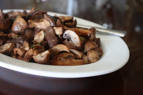 Red Wine Glazed Mushrooms And Potatoes Recipe — Dishmaps