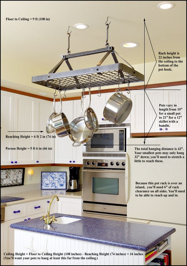kitchen+with+pot+rack | Kitchen Pot Racks Setup Guide