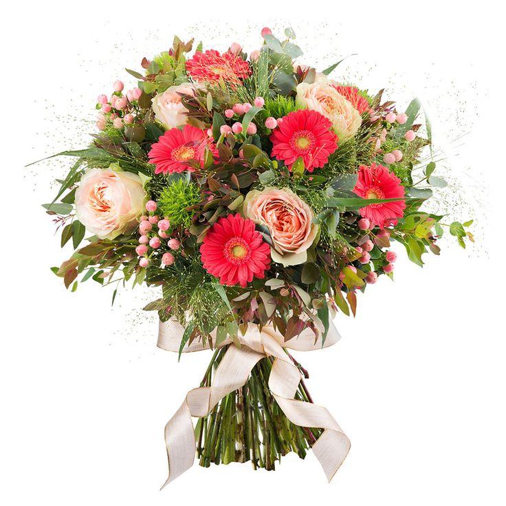 Fleurig boeket geleverd in een feestelijk geschenkdoos met uw persoonlijk bericht. Ideaal voor verjaardagen, Moederdag, een geboorte of om uw geliefde te verrassen.