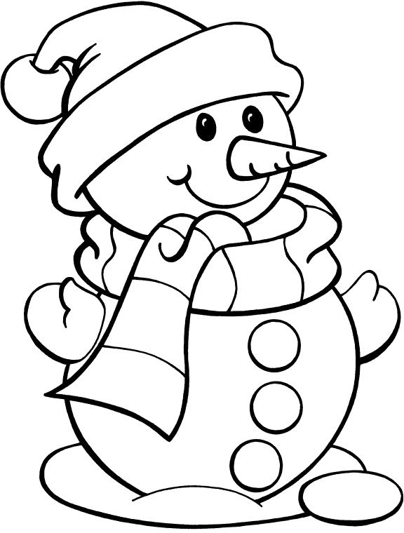 snowman coloring pages - photo#9