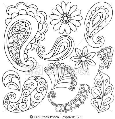 Paisley doodle