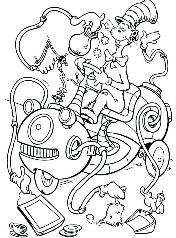 Cat In The Hat Coloring Pages Collection Cat In Hat Drawing At