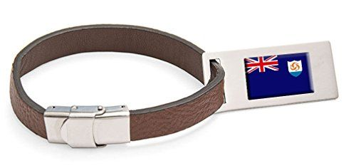 Luggage Tags Collections | Anguilla Flag Leather Luggage Tag Steel Engraved Text >>> Find out more about the great product at the image link. Note:It is Affiliate Link to Amazon.