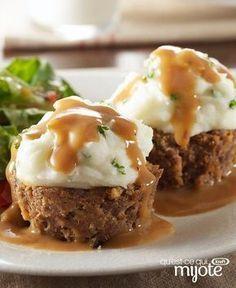 Petits pains de viande garnis de pommes de terre #recette