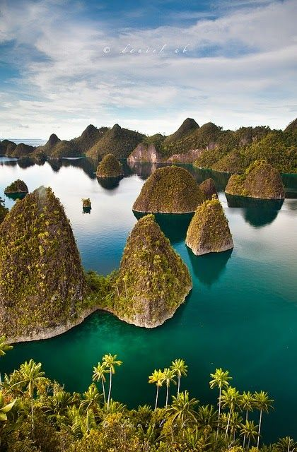 Raja Ampat, Indonesia. This country's made up of hundreds upon hundreds of islands.