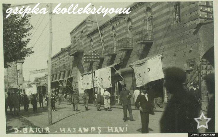Diyarbakır -Eski Bağdat caddesi şimdiki Gazi caddesi ve Hasanpaşa hanı