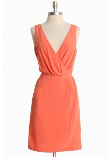 alysia peach woven dress / bb dakota