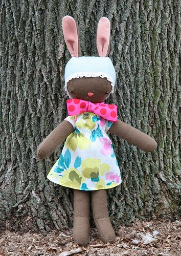 Wee Wonderfuls Pattern to turn her folk doll into a folk bunny.  Free Download I love her aesthetic.Free Bunnies, Cute Animal, Free Pattern, Free Dolls Dresses Pattern, Free Sewing Pattern Dolls, Easter Bunnies, Free Dolls Pattern To Sewing, Stuffed Animal Storage, Easter Bunny
