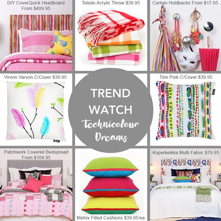 Technicolour Dreams - eye candy bedroom brights at Harvey Furnishings