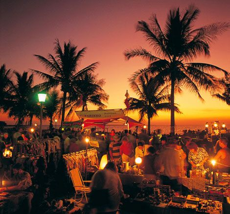 Mindil Beach Market at Sunset in Darwin, NT Australia.  Amazing food, shopping, and the view is pretty good