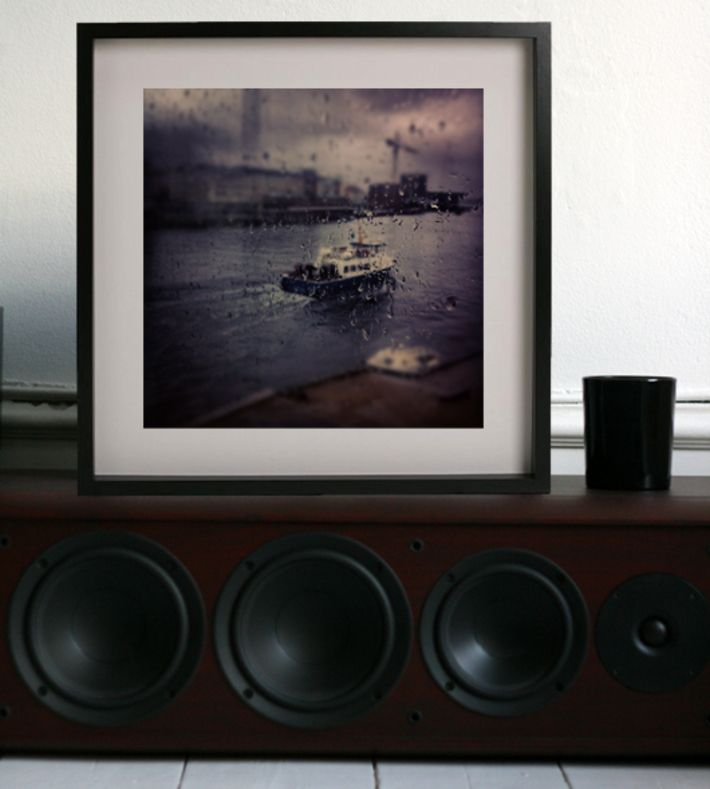København Tug Tug, Luke Lorimer. Where: This photo was taken on a rainy summer day from D.A.C cafe Copenhagen. Buy this piece on www.artrebels.com #artrebels #photography #art