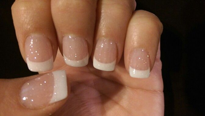Next Gen French Manicure with pixie dust sparkle