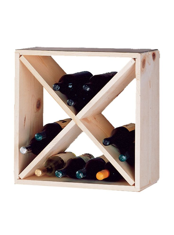 Cube wine rack plans Easily expandable Build