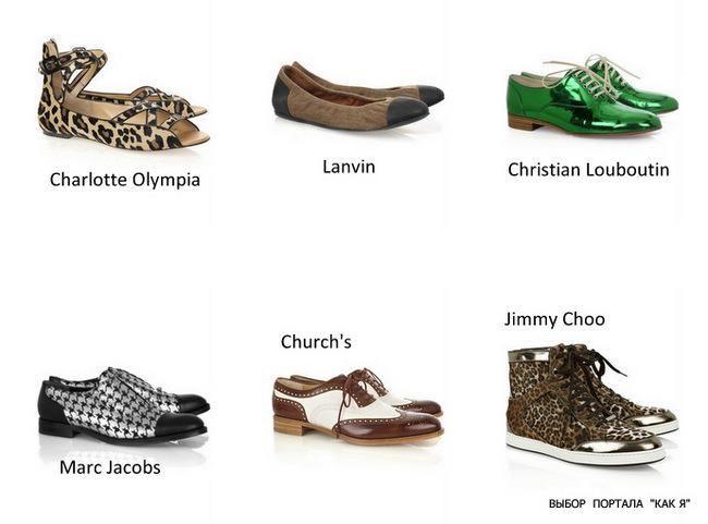 Стильная обувь без каблука фото