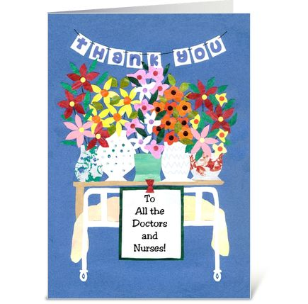 Thank You Card for Doctors and Nurses greeting card