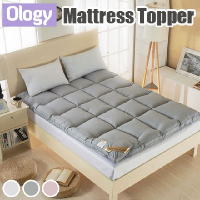mattress topper 5cm thick protector antimite foam quilt blanket bed mat bedding set super single queen king size available