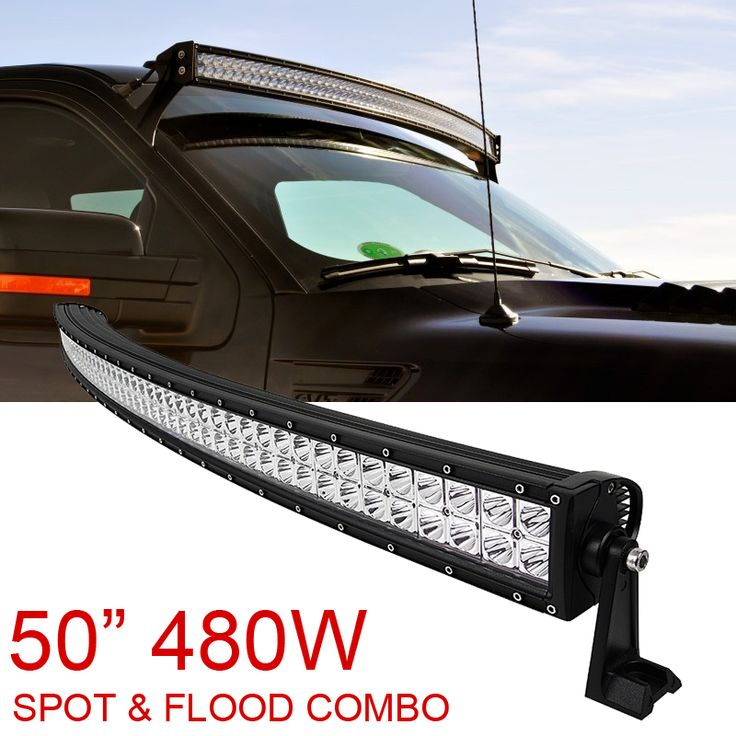 Best 25 curved led light bar ideas on pinterest 50 light bar 50 inch 480w spot flood combo cree curved led light bar offroad driving 4wd aloadofball Image collections