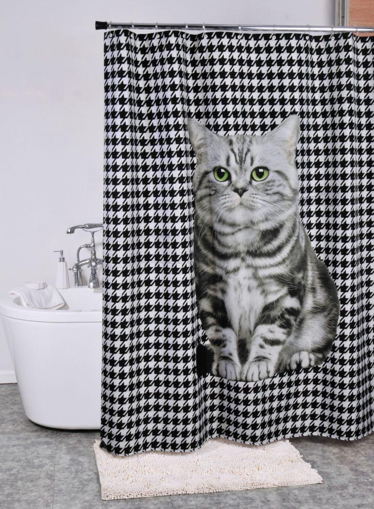 A Loja do Gato Preto | Cortina Gato Pied Poule #alojadogatopreto