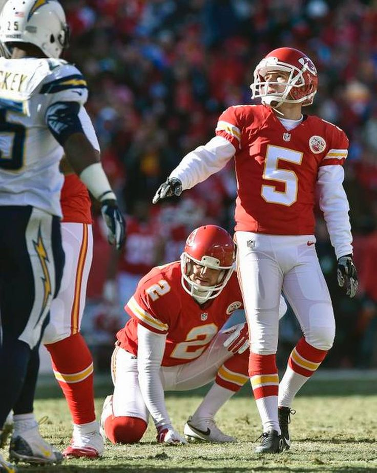 Kansas City Chiefs kicker Cairo Santos (5) watches a second quarter field goal during Sunday's football game against the San Diego Chargers on December 28, 2014 at Arrowhead Stadium in Kansas City, Mo.