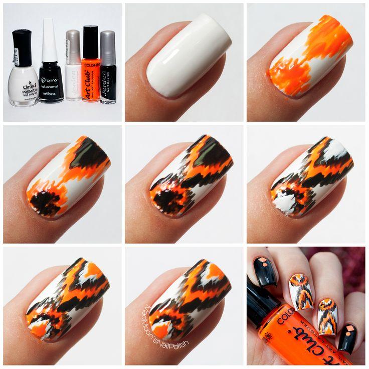 Неоновый Ikat nails   пошаговый фотоурок