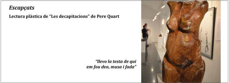 Escultura Venus en fusta policromada Exposició Les Decapitacions de Pere Quart per Lau Feliu