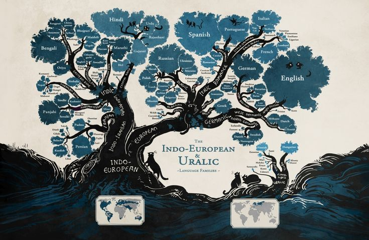 A language family tree. Minna Sundberg's illustration maps the relationships between Indo-European and Uralic languages. The creator of the webcomic Stand Still. Stay Silent, put the illustration together to show why some of the characters in her comic were able to understand each other despite speaking different languages. She wanted to show how closely related Swedish, Danish, Norwegian, Icelandic were to each other, and how Finnish came from distinct linguistic roots.