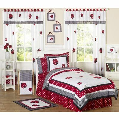 Sweet Jojo Designs Polka Dot Ladybug Children'S Bedding - 3Pc Full / Queen Set - Parental Guide