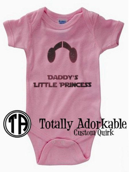 "Star Wars Baby Outfit - ""Daddy's Little Princess"""