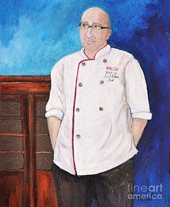Painting - Chef Jancid by Reb Frost