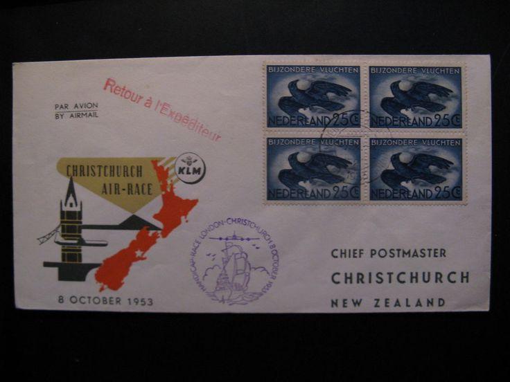 Flightcover KLM - New Zealand: Handicap Race London - Cristchurch, 8-10-1953...