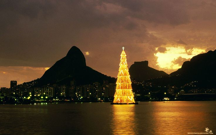 Every night that the tree is up it moves to a different spot on the lake in the middle of Rio de Janiero. Awesome to see