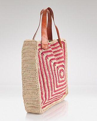 Crochet granny squares handbag