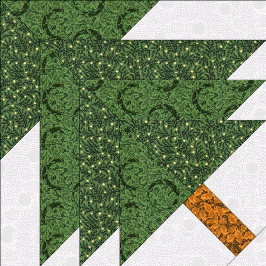 Paper Pieced Christmas Tree Pattern: Free Christmas Quilt Patterns
