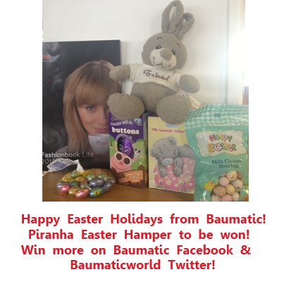 Win a Piranha Easter Hamper including Bunny! To win, Re-pin any Baumatic pin from our Baumatic Boards, telling us what type of kitchen appliance you would most like to buy - eg an oven/hob/cooker/dishwasher/washing machine etc? The winner will be emailed early next week!