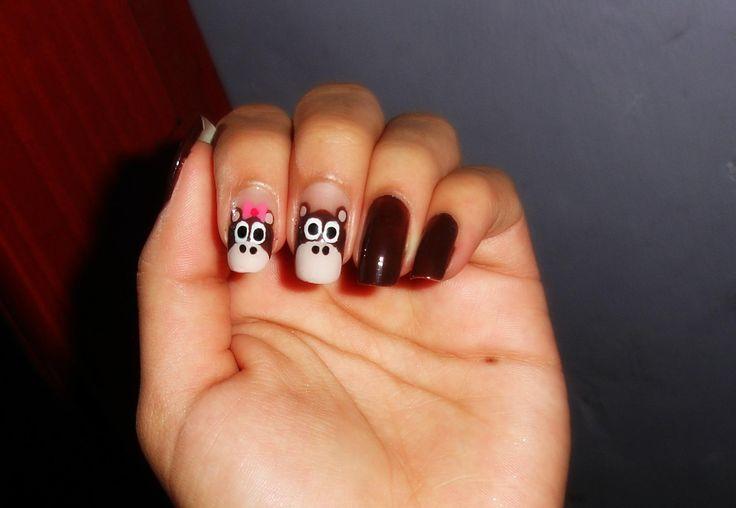diseño de uñas de monitos y monitas