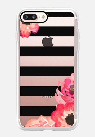 Striped Florals (Transparent) iPhone 7 Plus Case by Sushi & Queso Designs…