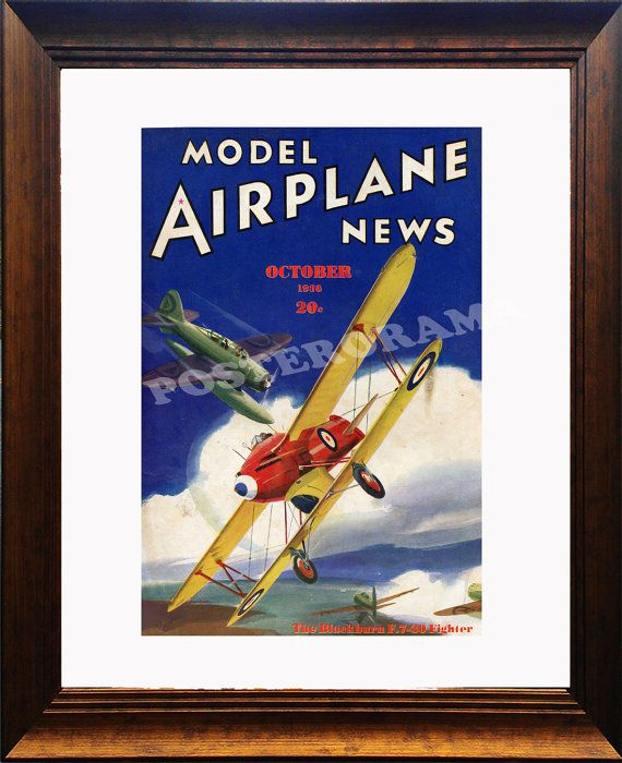 Model Airplane News POSTER 12 x 18 large magazine by POSTERORAMA, $12.00
