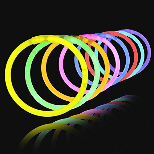 Authentic Lumistick Brand Premium Glow Products Includes 100 Connectors (Make Bracelets, Necklaces & More) Contains 5 Bright Colors: Pink, Green, Blue, Yellow & Orange...   toys4mykids.com